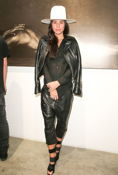 "Image contains nudity.) Artist Tasya van Ree attends ""Metallic Life"" by Brian Bowen Smith, brought to you by CASAMIGOS Tequila at De Re Gallery on October 22, 2015 in West Hollywood, California."
