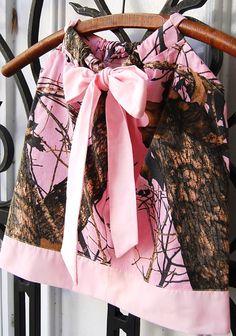 Custom made Pink Mossy Oak Camo Baby. Toddler. by greenvillegirl65 #mossyoakdress #mossyoakflowergirl
