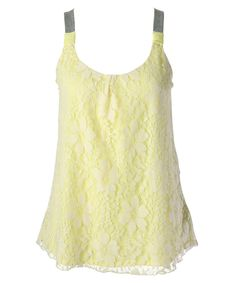 Ricki's: lace overlay knit tank for a jumper top.