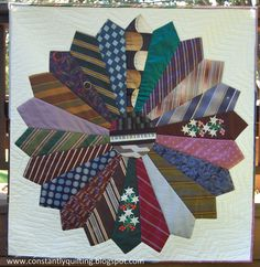Men's Tie Quilt Patterns Free | Constantly Quilting: Tie Quilt Finished!