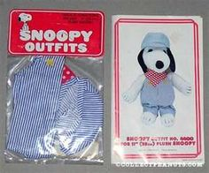 Snoopy and his little outfits ... I had these engineer overalls and cap, also a tennis polo and shorts!