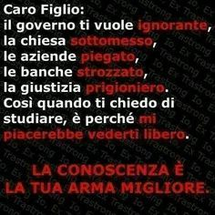 il popolo del blog,: caro figlio Quotes Thoughts, Love Me Quotes, Best Quotes, Italian Phrases, Italian Quotes, School Tool, Feelings Words, I Love My Son, Bitch Quotes