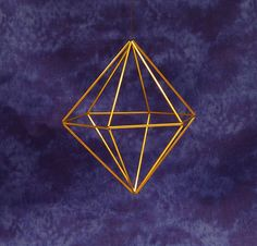 Himmeli Hanging Hexagonal Mirrored Pyramid by BroomstickCreations on Etsy, $12.85