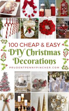 100 Cheap and Easy DIY Christmas Decorations Christmas Crafts Pin ? Diy Christmas Decorations Easy, Xmas Crafts, Holiday Decor, Diy Christmas Home Decor, Easy Diy Christmas Gifts, Cheap Christmas Centerpieces, Decor Crafts, Homemade Decorations, Homemade Christmas Decorations