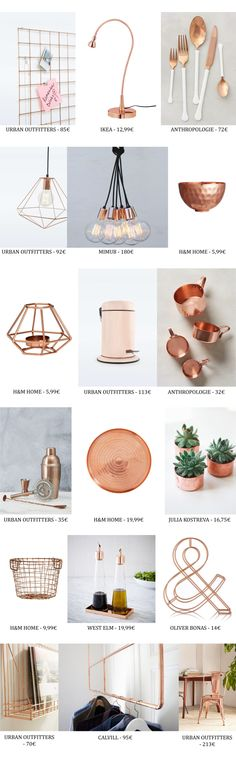 Tendencias decoración: El cobre - en The Creative Jungle Rose Gold Rooms, Rose Gold Decor, Gold Home Decor, Copper And Marble, Rose Gold Marble, Gold Bedroom, Bedroom Decor, My New Room, My Room