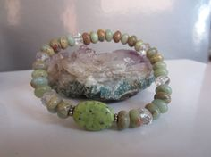 African Opal Jasper Crystal Quartz Serpentine by EtherealEnergy