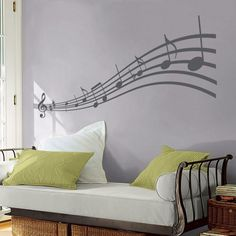 Music to my Eyes - Musical Notes - Vinyl Wall Decals