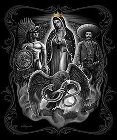La Reina Day of the Dead Super Soft Queen Size Plush Blanket 79 inch x 95 inch Chicano Art Tattoos, Chicano Drawings, Body Art Tattoos, Tiger Tattoo Sleeve, Arte Lowrider, Aztecas Art, Azteca Tattoo, Mary Tattoo, Graffiti