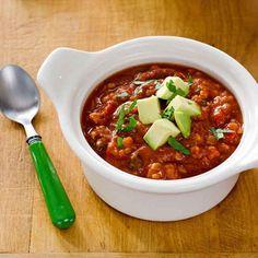 Crock Pot Cauliflower Chicken Chili