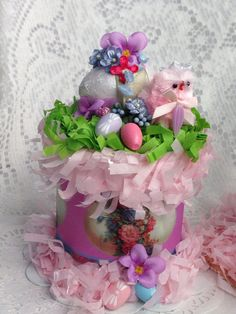 Shabby Chic Spring Easter Egg Box Vintage  ECS by RoseChicFriends, $16.99
