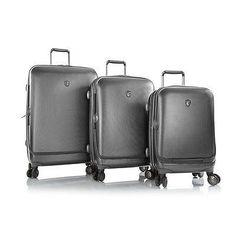 "Heys 3PC Luggage Set 30"" 26"" 21"" Hardcase Portal Pewter Gray Spinner E – LazyBreeze Deals"