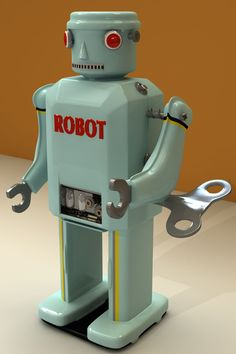 My little toy robot modeled with Cheetah3D