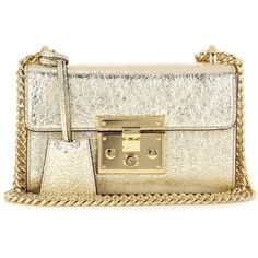 Gucci Padlock Small Metallic Leather Shoulder Bag (43 540 UAH) ❤ liked on Polyvore featuring bags, handbags, shoulder bags, gold, gucci, shoulder bag purse, metallic purse, gucci shoulder bag and leather purses