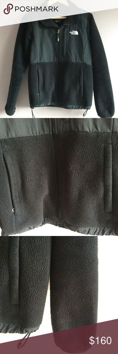 "Women's North Face Black Fleece Jacket Size Medium Women's North Face Black Fleece Jacket Size Medium  •	Size: Medium •	Material: shell- 100% polyester •	Length: 27.8"" •	Shoulder to shoulder: 16.5"" •	Armpit to armpit: 20"" •	In very good condition, no stains or tears •	Features a front left pocket and two lower pockets •	From a smoke-free and pet-free home •	Reasonable offers welcome The North Face Jackets & Coats"