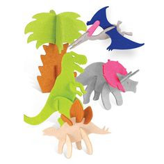 Dinosaurs 3D Animals Felt puzzle toys develop by Feltrica on Etsy