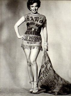 Idaho Stylin': Marilyn Monroe in a Potato Sack Dress