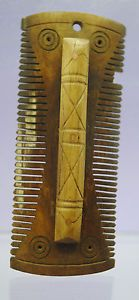 ANCIENT ROMAN BONE CARVED HAIR COMB 1ST-4TH CENTURY AD