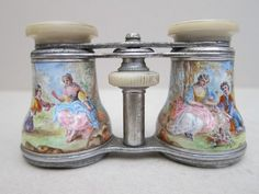 19th 20th Cent French Enamel Mother of Pearl Opera Glasses Theater Binocular | eBay