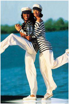 Naomi Campbell & Christy Turlington Ralph-Lauren- Vogue – 1992 Photo Arthur Elgort