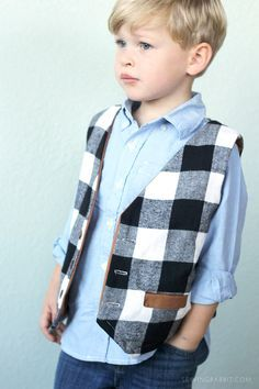 how to sew a boys vest      free boys vest pattern     handmade holiday boys clothes