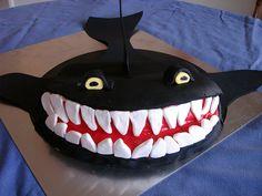 Shark Birthday Cake - Shark Photo