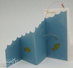Stampin T! - Wavy Fishing Card