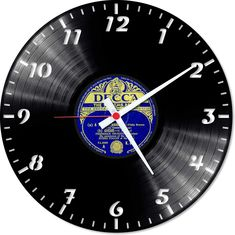 Old classic clock in unconventional cover…this is it! This vinyl clock will suit to every house.