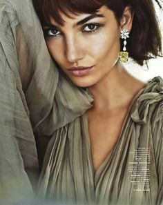 """In the editorial called """"Do My Diamonds Look Big In This?"""" gorgeous Victoria's Secret angel looks adorable. Beauty and elegance of Lily..."""