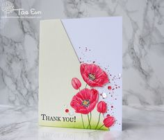 Hello!  I hope you had a good start to the new week!   Today I have a watercolor floral card to share with you which is featuring poppies an...