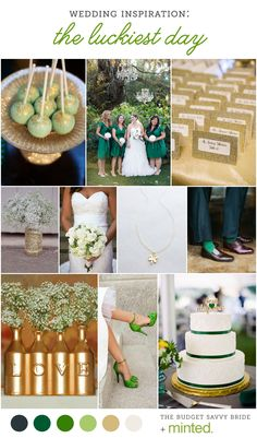 St. Patrick's Day Wedding inspiration from Minted and The Budget Savvy Bride