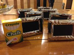 DIY chalkboard labels for a candy table