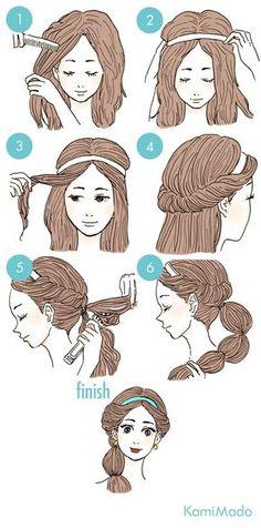 Tutorial de penteado no maior estilo de princesa da Disney. Perfeito para festas e festas a fantasia.