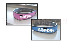 Bride AND Groom Disney Magic Band Decals by TheSouthernCityGirl on Etsy https://www.etsy.com/listing/221641076/bride-and-groom-disney-magic-band-decals