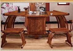 521609691813 Chinese antique furniture, solid wood mahogany tea table 2