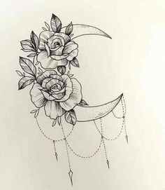 Sparkle Tattoo, Rosa Tattoo, Cute Tats, Girl Hairstyles, Tatoos, Tattoo Designs, Ink, Drawings, Doodles