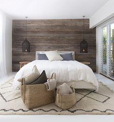 Znalezione obrazy dla zapytania wood on the wall in the bedroom