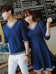 e095a0a18 Long Sleeve Stripe Splicing Couple Shirt Couples shirts WHOLESALE  CLOTHING Wholesale clothing