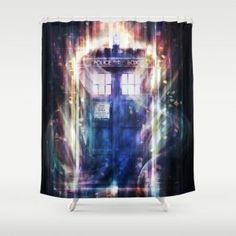 Thinkgeek Tardis Shower Curtain