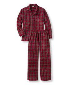 Scotch Plaid Flannel Pajamas: Sleepwear   Free Shipping at L.L.Bean