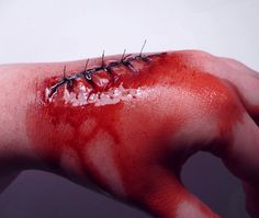 Halloween | Idea - Foam Latex Stitches Prosthetic via Etsy