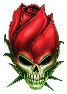 Rose Skull Temporary Tattoos - Skull Mix Tattoos