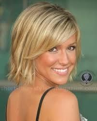 Chin-length choppy bob hair cut with side fringe...there are days I think that this would be amazing...