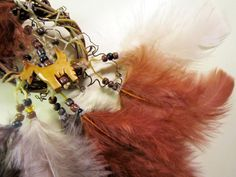 Horse Dancer's Handmade Little Brown Dog Dream Catcher