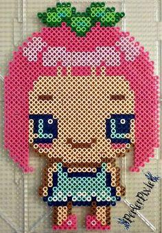 Chibi girl perler beads by PerlerPixie