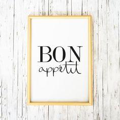 Digitaldruck - Poster, Kunstdrucke, Sprüche: Bon appétit - ein Designerstück von…