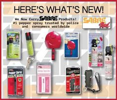 Exciting New SABRE Self Defense Products At Personal Safety Kits!