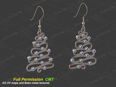Christmas tree earrings 2 Full Permission