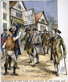 Procession in New York in opposition to the Stamp Act - 1765