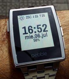 Watchface recomendada: Timeboxed #pebble #watchface