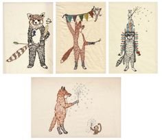 woodland creatures embroidery